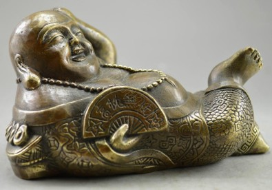 Metal-Crafts-Collectible-Decorated-Old-Handwork-bronze-Carved-font-b-Sleep-b-font-font-b-Buddha